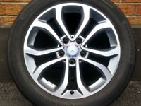 """17"""" GENUINE MERCEDES C CLASS W205 15-19 ALLOY WHEEL TYRE FULL SIZE SPARE 5x112"""