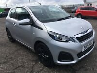 2015 Peugeot 108 1.0 , only 23,000 miles , 1 owner from new ,c1,aygo,yaris,corsa,fiesta,clio,punto