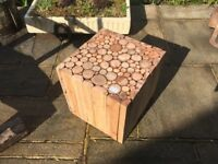 Wooden Garden Block Seat