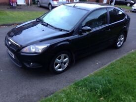 2008/08 Ford Focus Zetec 1.6 petrol 3 door black