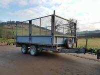 10ft x 6ft ifor Williams LM106G caged dropside trailer . Plant, builders etc