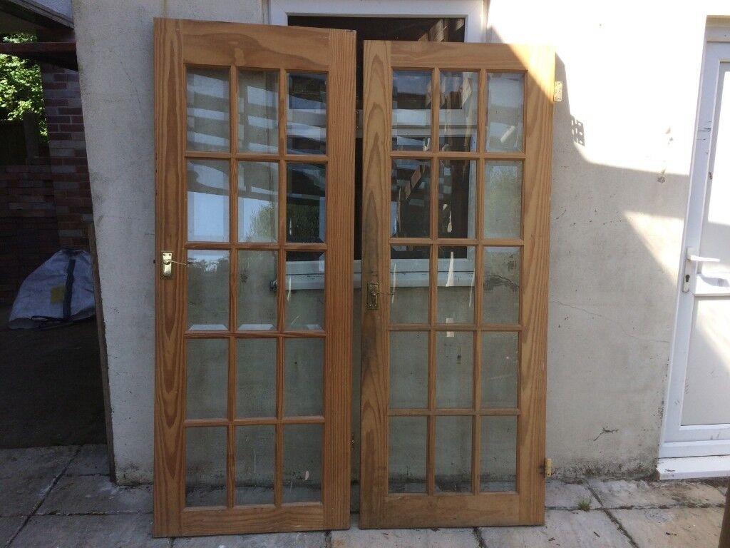 Solid Wood Glass Pane Internal Doors In Poole Dorset Gumtree