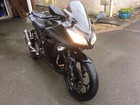 Beloved Kawasaki Ninja 300, 18000 miles, 12 Months MOT: A2 Compatible Bike