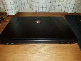 Powerful Gaming Laptop. MSI Apache Pro Ge62vr 7rf, GeForce GTX 1060, i7 processor, 144hz panel