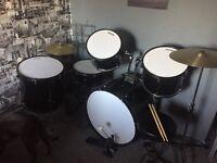 7peice full size drum kit