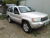 Jeep grand cherokee 2.7 crd, ltd auto. jan 18 mot. 64 k miles. vgc. silver.