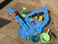 Water play bundle - includes water track, sieves, jugs, cups, boats