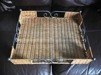 metal framed/wicker tray