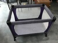 John Lewis travel cot, mattress enhancer and sheet