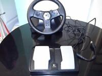 Vibration feedback wheel for x box in original box