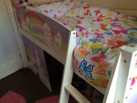 Girls midi sleeper with castle design great condition
