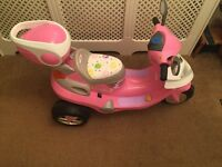 Pink electric ride on scooter 6v from smyths