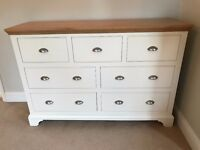 John Lewis Helston 7 drawer chest, ivory
