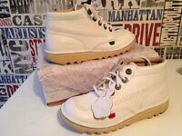Unisex child`s leather Kicker boots