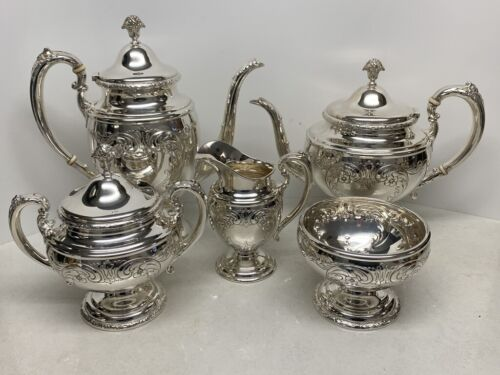 Towle Sterling Silver 5-Piece Coffee Tea Set Old Master 76530 - 78.9 Troy Ozs.