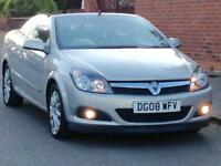 2008 VAUXHALL ASTRA CONVERTIBLE 1.6 SPORT LOW MILEAGE FULL YEARS MOT 3 MONTHS WARRANTY