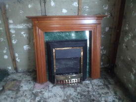 Fireplace Surround and Electric Fire