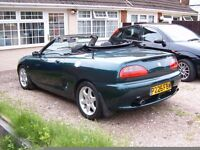 MGF CONVERTIBLE 12 MONTH MOT FSH DRIVES VERY GOOD HEAD GASKET DONE TIMING BELT DONE TWICE