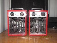 2 x workshop heaters