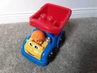 Duplo truck, tractor & trailer, little Charlie bear
