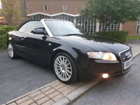 2006 06 REG AUDI A4 CABRIOLET 3.0 TDI QUATTRO S-LINE TIP-TRONIC, FSH, LEATHER, HPI CLEAR, 18' ALLOYS