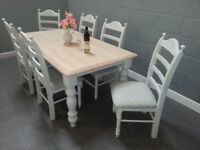 Stunning Shabby Chic Table and Chair Set
