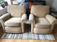 2 Matching Fabric Armchairs