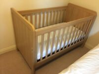3 piece Mamas & Papas Nursery Furniture set (cot, wardrobe and drawers/changing table)