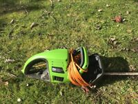 Electric hedge trimmer hardly used for sale
