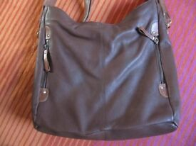 Fab brown leather hand bag