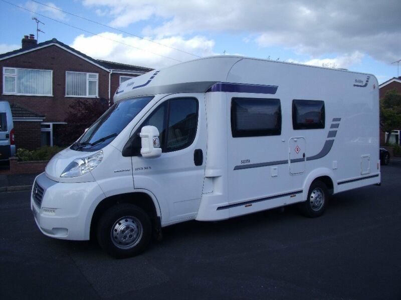 Used, A Very Nice Hobby Siesta Motorhome With A Kampa Rally Air Pro Inflatable Awning With Zip In Annexe for sale  Chester, Cheshire