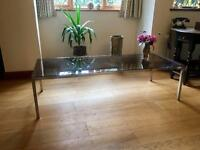 Long glass table