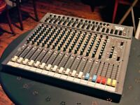 STUDIO MUSIC MIXING DESK. PROFESSIONAL DESK BY SOUNDCRAFT. SPIRIT SX. USED ONLY 3 OR 4 TIMES.