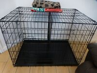 """XL 42"""" DOG CRATE WITH DIVIDER & METAL TRAY"""