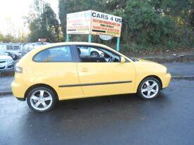 Seat Ibiza Sport 1.4CC in a vibrant yellow colour