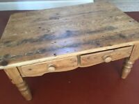 Lovely Large Rustic Reclaimed Pine Coffee Table