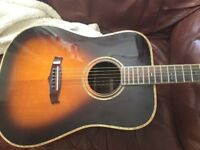 High end ,solid mahogany Tanglewood electro acoustic guitar.