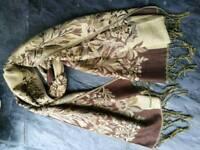 Brand New Brown Pashmina Scarf Shawl
