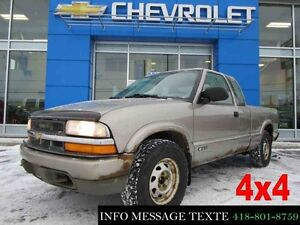 2000 CHEVROLET S-10 4WD EXTENDED CAB 4x4