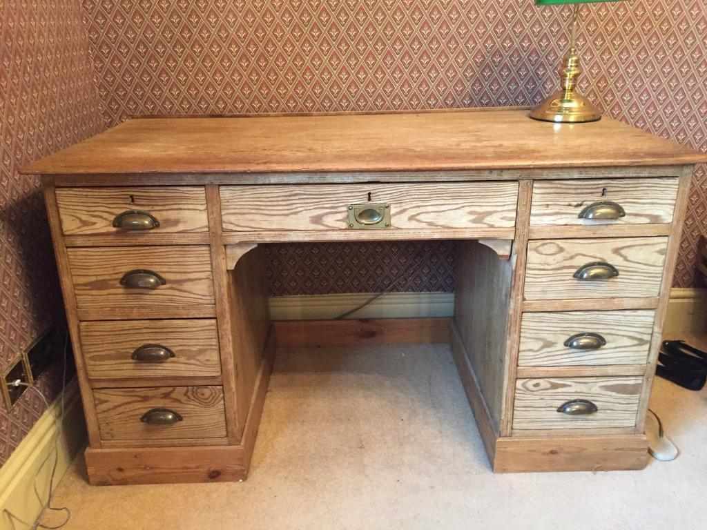 Antique pine partners desk - Antique Pine Partners Desk In York, North Yorkshire Gumtree