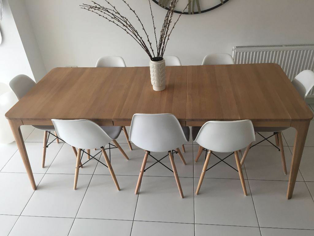 John Lewis Mira 6 8 Seater Extending Dining Table In