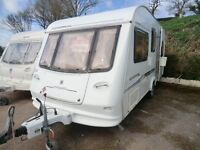 REDUCED Compass Corona 505 5 Berth touring caravan 2004 with awning SPRING OFFER