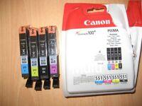 Canon PIXMA mutli pack 551 Printr ink