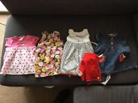 bundle of baby girl clothes, 6-9 months, including summer dresses