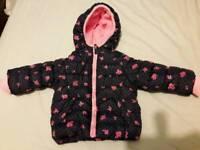 Baby girl winter jacket Mathercare size 6-9