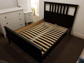 Ikea Hemnes Black Bed Frame