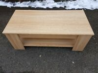 Oak Veneer Coffee Table with Opening Top internal storage & Shelf below FREE DELIVERY 238