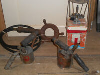 A variety of camping gas cookers and parafin burners and cooker