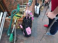 Kids golf girl golf clubs with carry bag