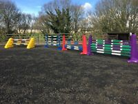 Large selection of plastic horse polyjump show jumps wings and coloured poles